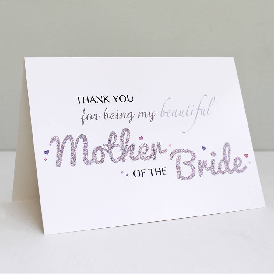 Mother Of The Bride Thank You Card By Martha Brook