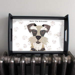 Personalised Schnauzer Serving Tray - trays