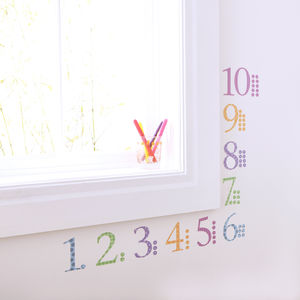 Childrens Number Wall Stickers With Counters - wall stickers