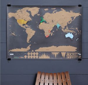 Deluxe Scratch Off World Map - home accessories