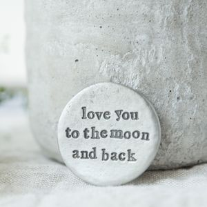 'Love You To The Moon And Back' Pocket Coin - decorative accessories