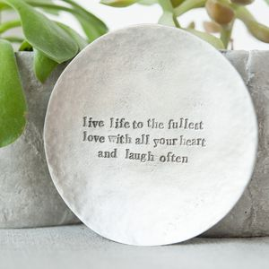 'Live Love Laugh' Trinket Dish - jewellery storage & trinket boxes