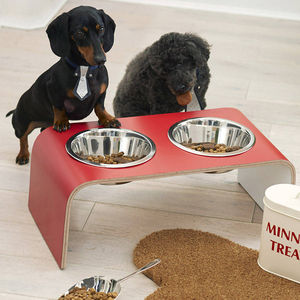 Raised Dog Bowl Holder - valentine's gifts for pets