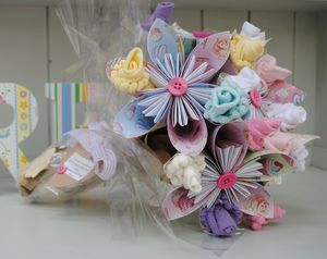 New Baby Flower Bouquet - blankets, comforters & throws