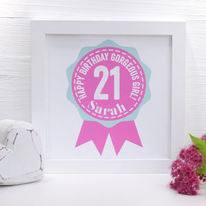 Personalised Birthday Age Framed Print