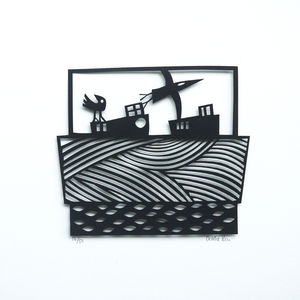 Fly With Me Papercut - nature & landscape