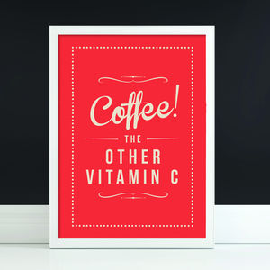 'Coffee Vitamin' Fine Art Retro Print