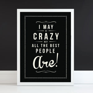 'Crazy People' Fine Art Retro Print