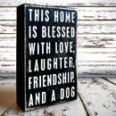 Box Art: This Home Is Blessed With Love…And A Dog