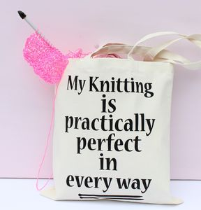 'Practically Perfect In Every Way' Knitting Bag - shoulder bags