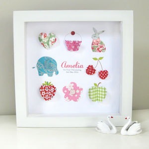 Personalised Baby Girl Icon Artwork - pictures & prints for children