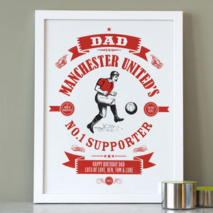 Personalised Dad's Football Print - activities & sports