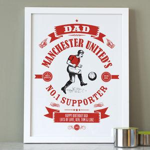 Personalised Dad's Football Print - personalised