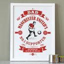 Personalised Dad's Football Print