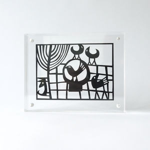 Aderyn Papercut In Acrylic Frame - contemporary art