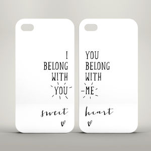 'I Belong With You' iPhone Case Set - men's sale