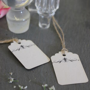 Blank Vintage Style Favour Tags - wedding favours