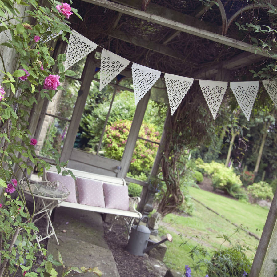 Ikat Inspired Design Neutral Garden Party Bunting