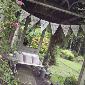 Ikat Inspired Design Neutral Bunting - rustic wedding