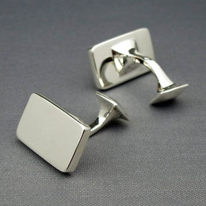 Solid Silver Cufflinks - Perfect For Engraving - cufflinks