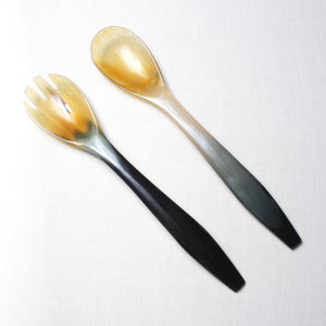 Buffalo Horn Servers - utensil sets