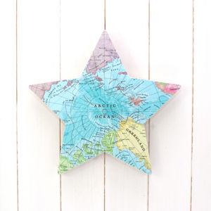 Large Wall Mounted Bespoke Map Star