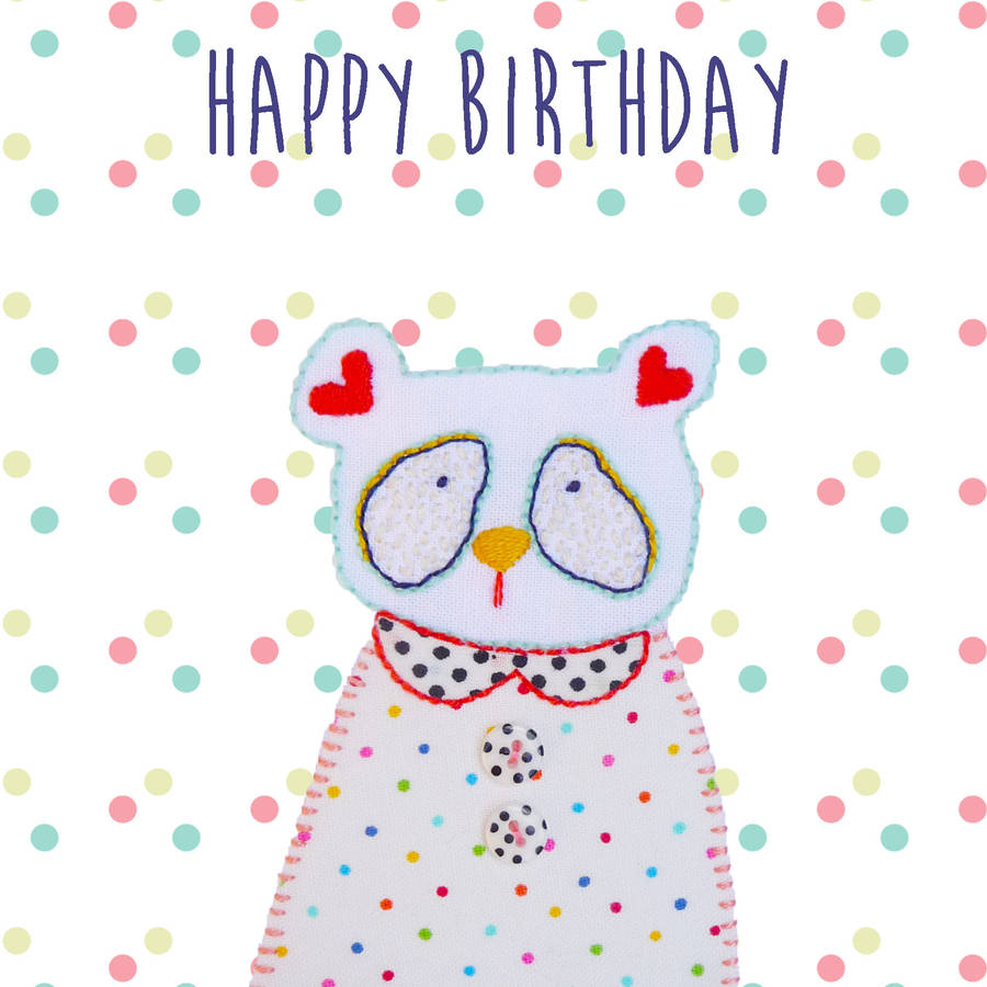 'happy Birthday' From Coco The Bear By Buttongirl Designs