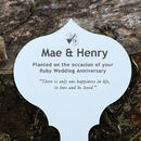 Personalised Anniversary Tree Or Garden Plaque