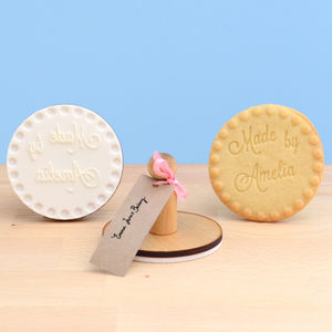 Personalised 'Made By' Cookie Stamp