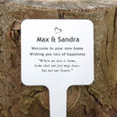 Personalised Housewarming Tree Or Garden Plaque