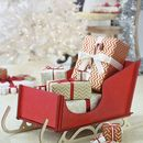 Wooden Alpine Sleigh Gift Holder