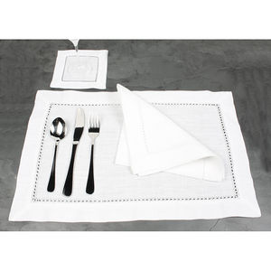 Pure White Linen Placemats