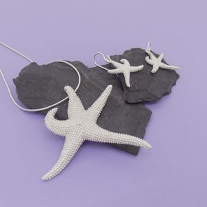 Silver Floating Starfish Set