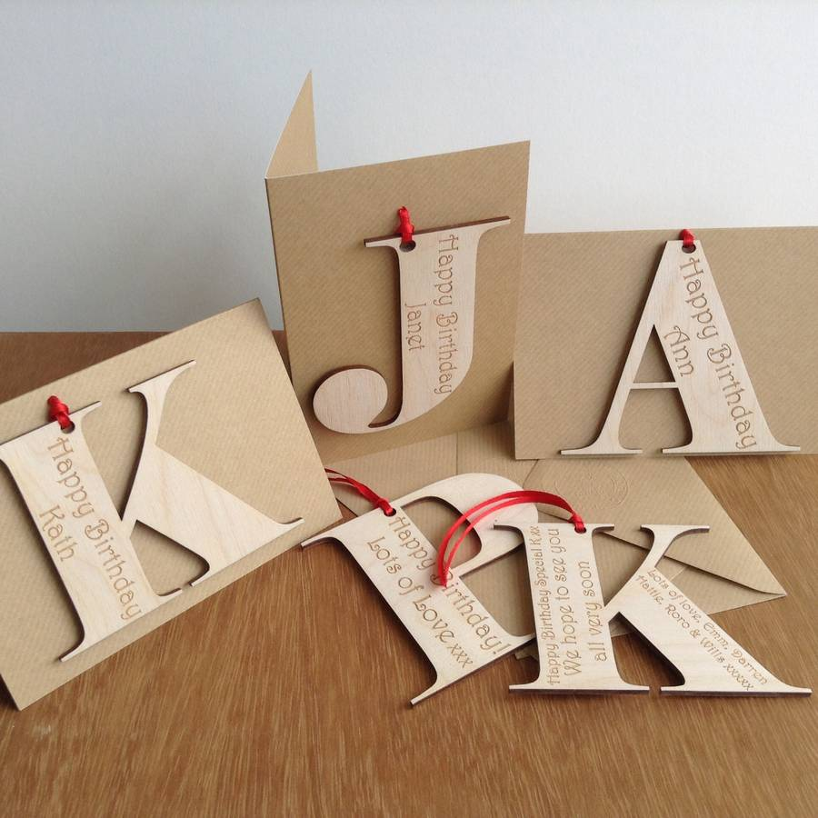 Personalised Initial Letter Birthday Cards By Hickory