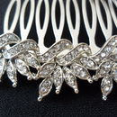 Delicate Floral Crystal Hair Comb
