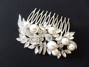 Vintage Styled Pearl And Diamante Hair Comb