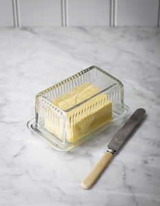 Louella Glass Butter Dish - tableware