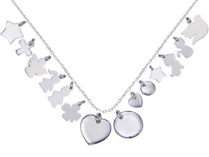 Mix And Match Silver Charm Chain Necklace - children's jewellery
