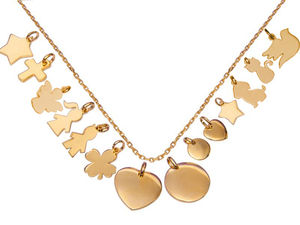 Mix And Match Gold Plated Chain Necklace - charm jewellery