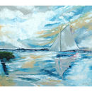 Boat On The Broads Canvas Painting