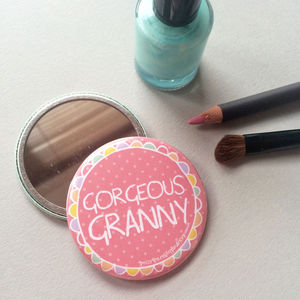'Gorgeous Granny' Pocket Mirror - beauty accessories