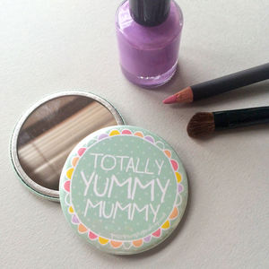 'Yummy Mummy' Pocket Mirror - beauty gifts