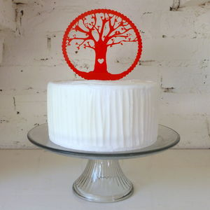 Tree Cake Topper - cake decoration