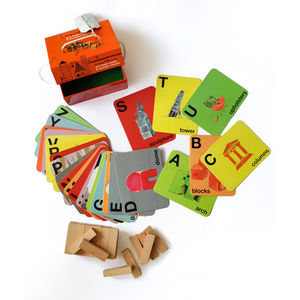 A To Z Flash Cards And Wooden Blocks
