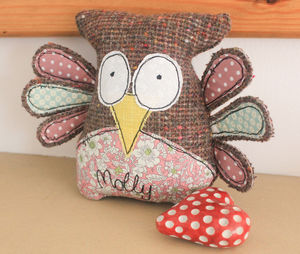 Personalised Soft Owl - keepsakes
