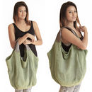 Hava Bag on Model in Khaki Green (this color not available now)
