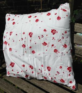 Roses Vintage Linen Cushion Cover - cushions