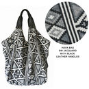 Hava Bag in BW Jacquard