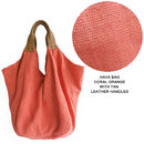 Hava Bag in Coral Orange