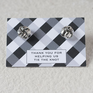Thanks Tying The Knot Cufflinks - jewellery gifts for ushers